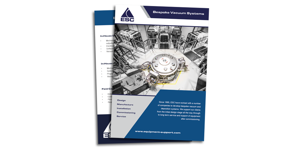 Equipment Support - Bespoke vacuum systems brochure download