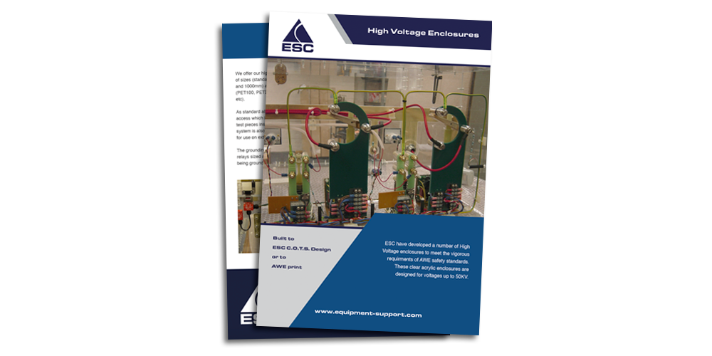 Equipment Support - High Voltage enclosures - Brochure download