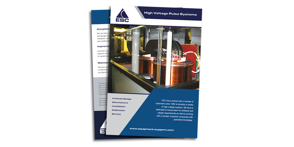 Equipment Support - High Voltage Pulse Systems - Brochure download