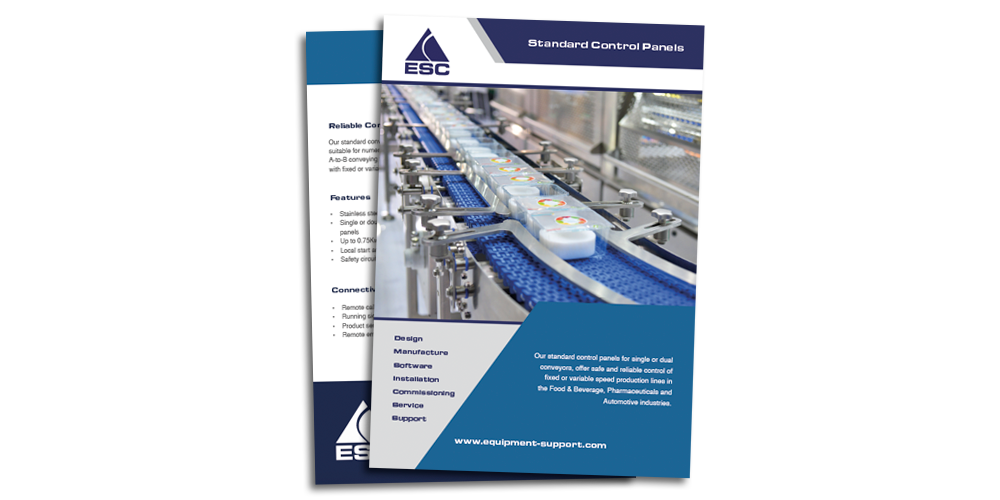 Equipment Support - Standard Control Panel Brochure Download