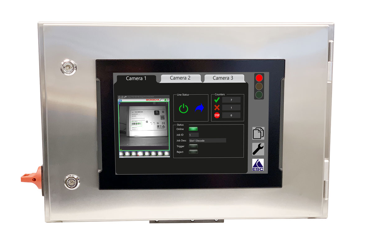 Control Panel with Screen - Equipment support - Vision Control Systems